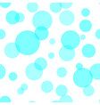 seamless pattern with blue circles vector image vector image
