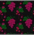 seamless pattern with bunch grapes vector image