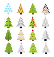 set different christmas trees can be used vector image
