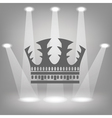 silhouette of crown vector image