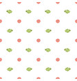 simple floral summer seamless pattern green leaves vector image