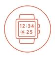 Smartwatch line icon vector image vector image