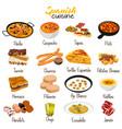 spanish food cuisine vector image