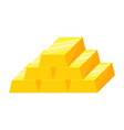 stack of gold bars or ingot vector image vector image