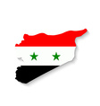 Syria flag map with shadow effect vector image vector image