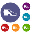 tango shoe icons set vector image vector image