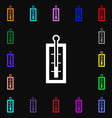 Thermometer icon sign Lots of colorful symbols for vector image
