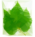 Triangulated Wine Leaf vector image vector image