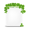 Banner With Green Clover vector image
