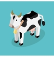 Black 3d Cow with White Spots vector image