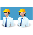 People Icons Engineer Man and Women vector image