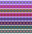 set of ornamental strips of colored vector image