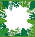 abstract background with tropical leaves jungle vector image vector image