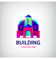 abstract building construction architect vector image vector image