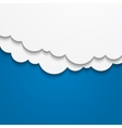 Abstract cloud background vector image vector image