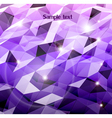 Abstract violet background Combination of triangle vector image vector image