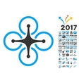 Airdrone Icon With 2017 Year Bonus Symbols vector image vector image