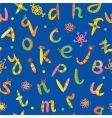 alphabet seamless bright funny pattern vector image