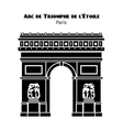 Arc de Triomphe Arch of Triumph of the Star in vector image vector image