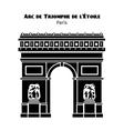 arc de triomphe arch triumph star in vector image