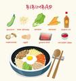 bibimbap vector image