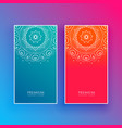 bright mandala banners in blue and red colors vector image
