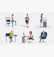 business people working in the office office vector image vector image