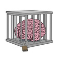 Caged mind vector image vector image
