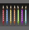 cake candles set realistic style holiday vector image vector image
