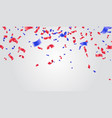 celebration background template with confetti and vector image