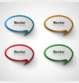 colorful template set vector image