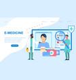 concept online medicine e-medicine vector image