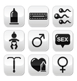 Contraception methods sex buttons sex vector | Price: 1 Credit (USD $1)