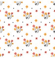 cute floral pattern in small flower motifs vector image vector image