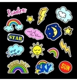 Fashion patch badges Sky set Stickers pins vector image vector image