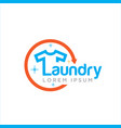 fast laundry logo designs vector image vector image