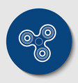 fidget spinner sign white contour icon in vector image