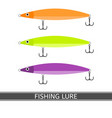 fishing lure icon vector image vector image