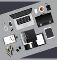 Flat design business workplace concept vector image