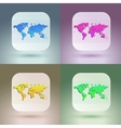 Flat map icon for application on soft background vector image vector image