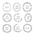 Floral wreaths collection vintage vector image vector image