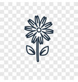 flower concept linear icon isolated on vector image vector image