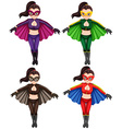 Flying girls vector image vector image