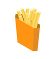 french fries isolated paper box for fast food on vector image