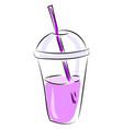 fresh purple juice on white background vector image vector image