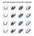 gutter shape icon vector image vector image