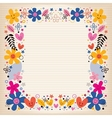 hearts and flowers border vector image vector image