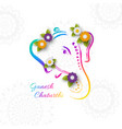holiday design for traditional indian festival of vector image