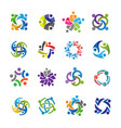 human character for colorful community logo set vector image vector image