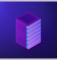 isometric database and big data concept vector image